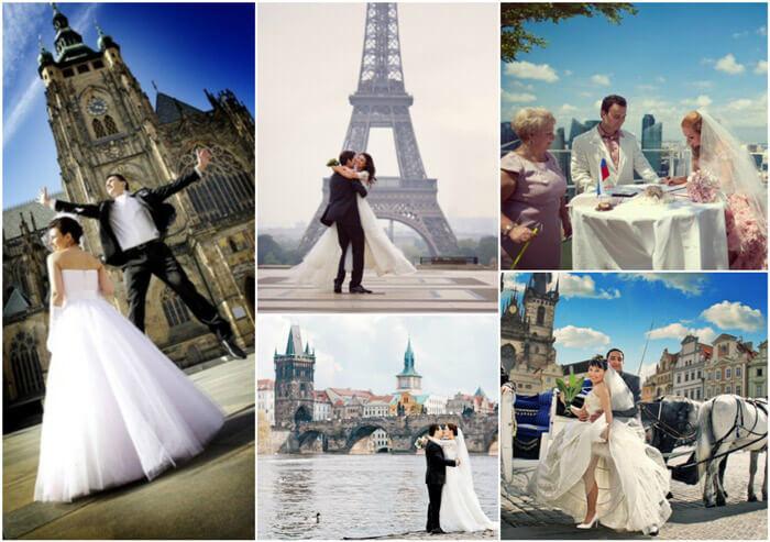 свадьбы за границей фото